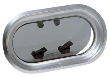 Vetus lomboz, tip PM. Çerçeve elde cilalanmış anodize alüminyum, camı 10 mm duman rengi akriliktir.