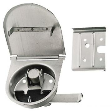 Gömme kulp, paslanmaz çelik. Büyük kapaklar için ideal. 100x110 mm.