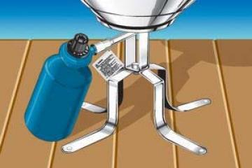 Magma mangalı portatif kullanmak için ayak.