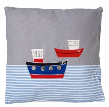 Yastık, kare, tekne desenli.