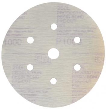 3M™ Hookit™ Tozsuz Film Mesnetli Disk, 150mm - 7 Delikli