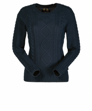Musto Adams Crew Neck Cable Kazak