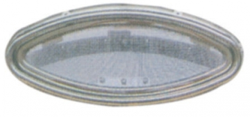 Krom Lumboz Elips 15 x 35 cm Montaj Ölçüsü: 10.5 x 30 cm Sineklik Dahil