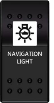 Switch On-Off 12-24V Navigasyon Lambası