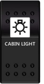 Switch On-Off 12-24V Kabin Lambası
