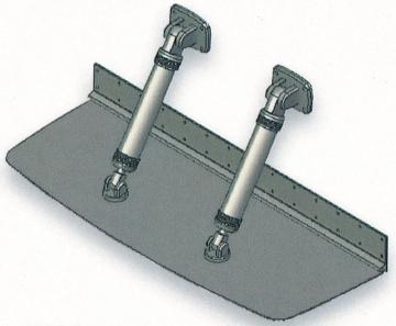Bennett 30 Mil Üstü Sürat Tekneleri için Flap 31 x 31 cm Çift Pistonlu Komple