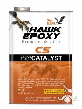 HAWK EPOXY C5-S4 ŞEFFAF FİNİŞ KATALİZÖR 39.37 LT