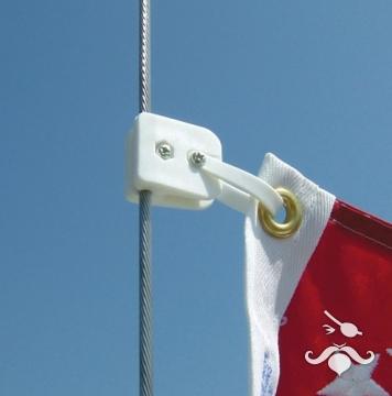 Bayrak bağlama klipsi