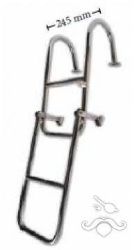 Katlanabilir Paslanmaz Merdiven Tutamaklı