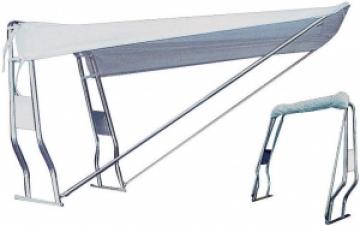 Şişme botlar için teleskopik tente