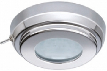 Quick Marine Lighting spot lamba. Model TOM S.\nEntegre anahtarlı. Halojen ampullü modeller. 12V/10W halojen ampul dahildir. \nPaslanmaz çelik