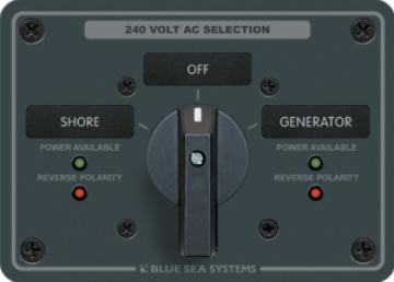 AC kaynak seçme paneli.