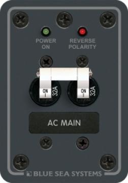 AC Ana sigorta, 230V AC. 95mmx67mm. Çift kutup otomatik sigortalı.