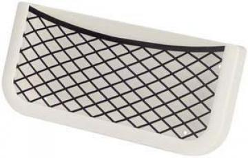 Plastik fileli eşya yuvası, beyaz. 260x112x32 mm.