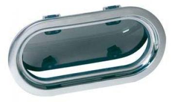 Vetus lomboz, tip PMS23. Çerçeve paslanmaz çelik, camı 10mm duman rengi akriliktir. Paslanmaz çelik sineklik standarttır.