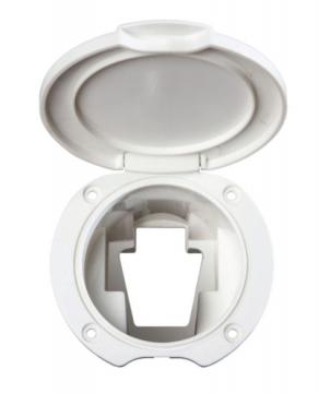 Plastik Kapaklı Duş Yuvası Açılı Ø: 70 mm