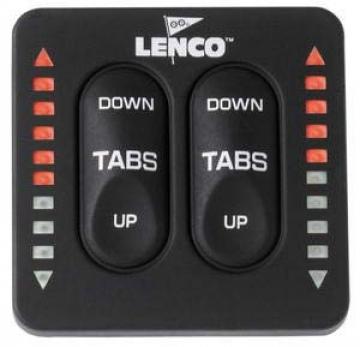 Lenco flap kontrol paneli. Trim göstergeli.